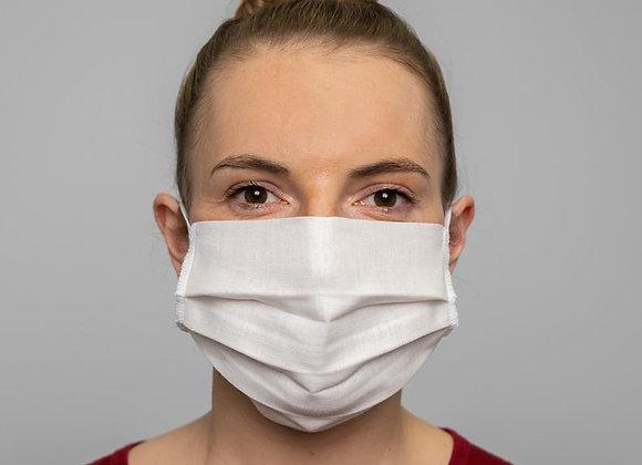Λευκή Υφασμάτινη Μάσκα