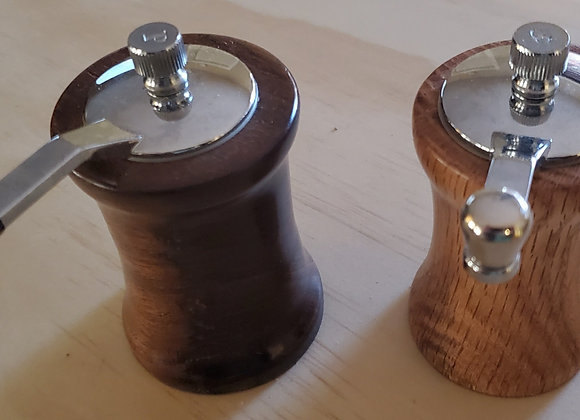 Hand Crafted Crank Top Salt and Pepper Mill Sets