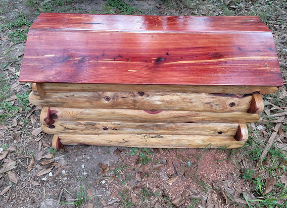 Log Cabin Style Cedar Chest