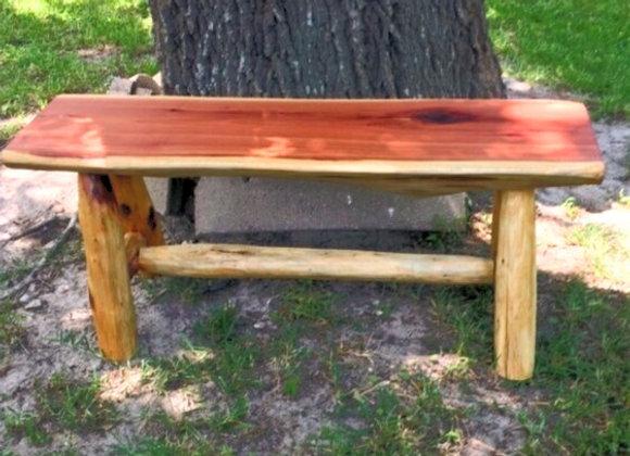 Rustic Log Cedar Bench