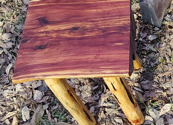 Rustic Log Cedar Table