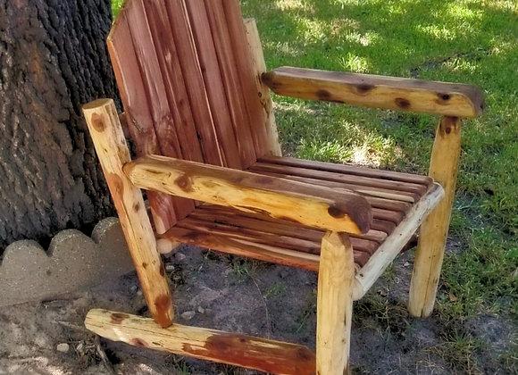 Single Cedar Rustic Log Chair