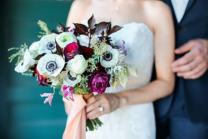 Plum wedding bouquet