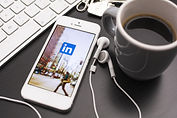 LinkedIn for business profile displayed on smartphone