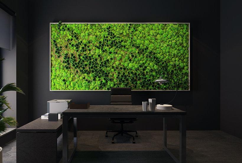 Black on Green Moss Frame
