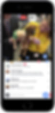 Facebook Live displayed on smartphone