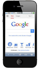 Google Search Engine Marketing image displayed on smartphone
