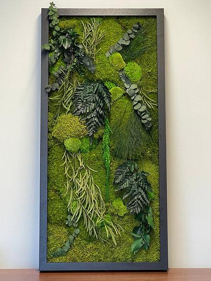 Leafy Rectangle Moss Frame