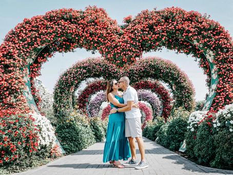 Dubai Miracle Garden - Ensaio fotográfico no maior jardim florido do mundo!