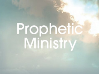 Some Thoughts On Prophetic Ministry