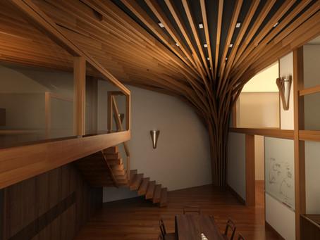 北京 Mショールーム空間デザイン「大樹」