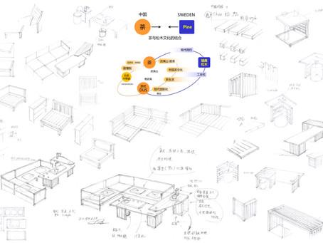 SWEDESH WOOD&中国家具協会コラボ企画 TeaTable&Sofa アイデアスケッチ