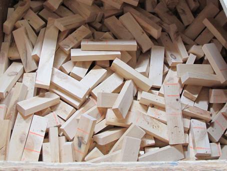 IKEA家具の端材でつくるエコwall