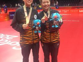 Ho Ying & Karen Lyne won the Women's Doubles Bronze Medal at the Gold Coast 2018 Commonwealt