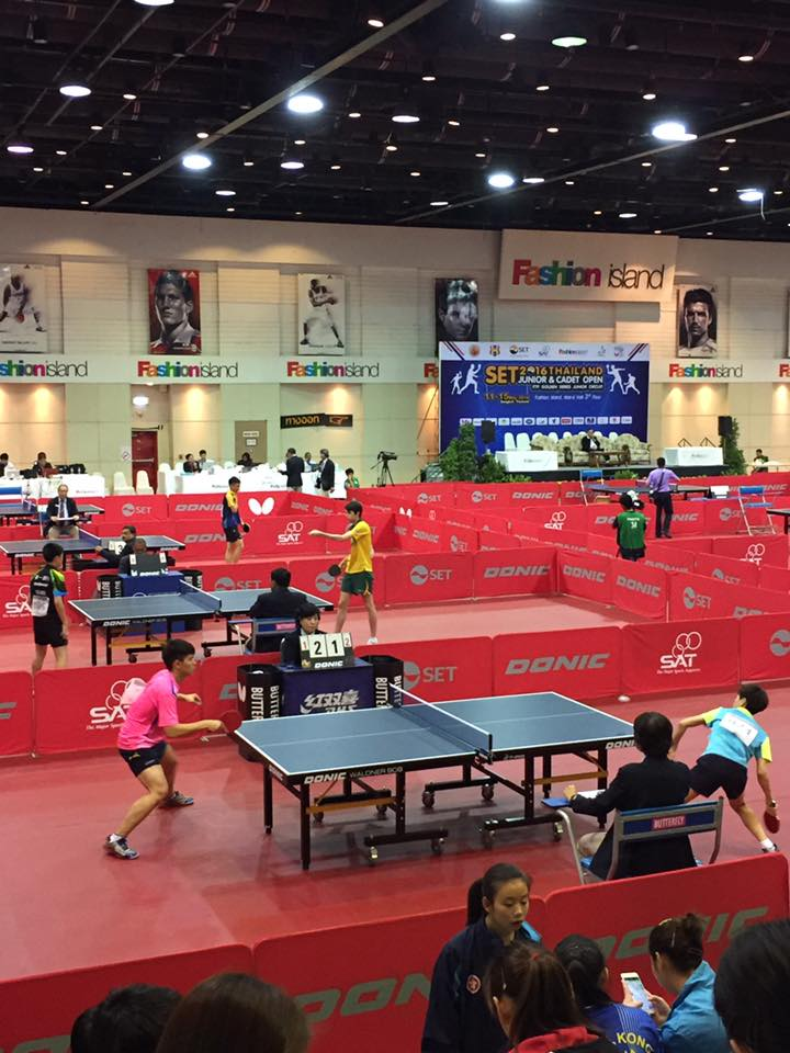 During tournament of SET 2016 Thailand J&C Open