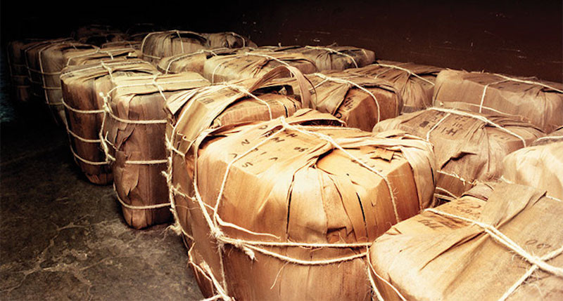 wrapped up tobacco aging