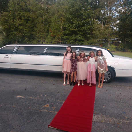limo with the red carpet