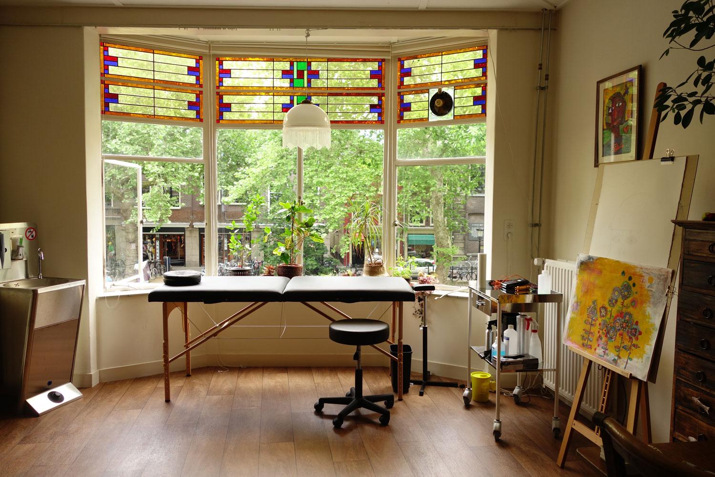 My very private studio
