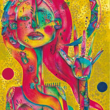 Self portrait (Rainbow people 07)