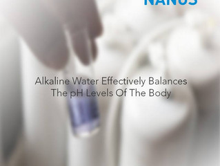 Alkaline water effectively balances the pH levels of the body