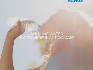 Alkaline water is a powerful antioxidant