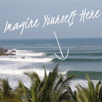 Imagine yourself here! Surfing La Punta de Zicatela