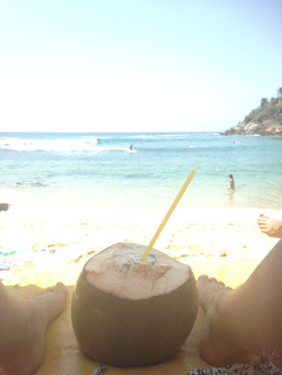 Relax with a coco frio on the beach