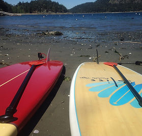 SUP at Bedwell Harbour mermaidpaddleyoga