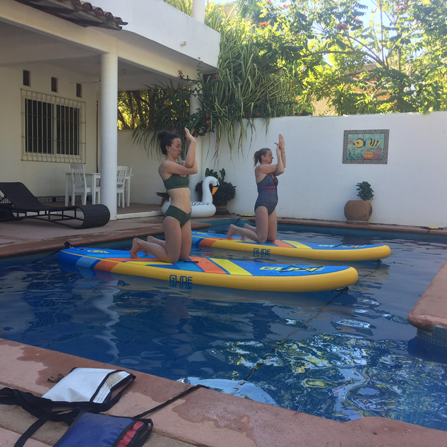 pool yoga and floating fitness