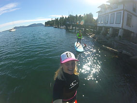 SUP tour at Hope Bay with Kelly-Ann La Sirena