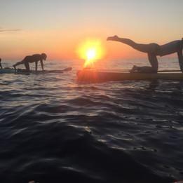 stand up paddleboard yoga at playa zicatela