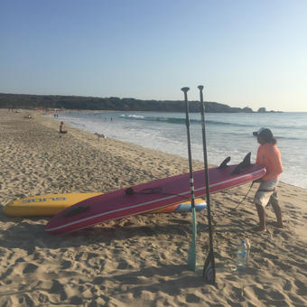 sunset stand up paddleboard tour