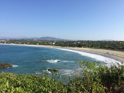 views of Zicatela from La Cruz