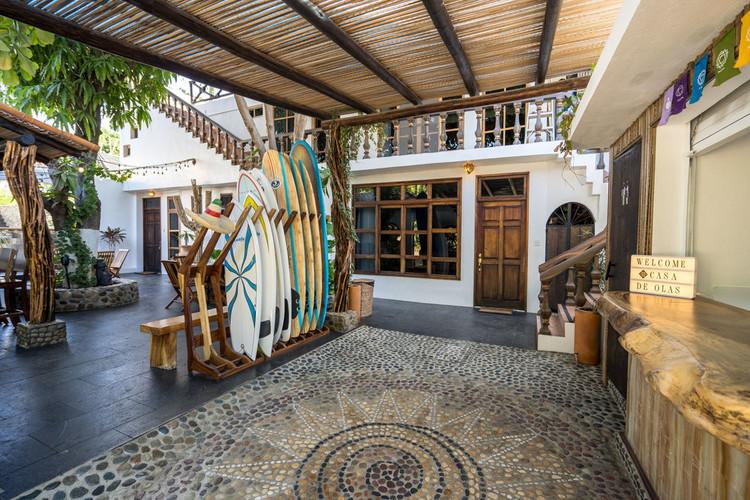 Casa de Olas Reception and Courtyard
