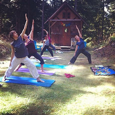 Ourdoor yoga with Kelly-Ann La Sirena