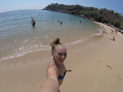 Beach day swimming at Carizalillo