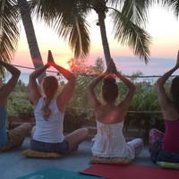 namaste sunset yoga