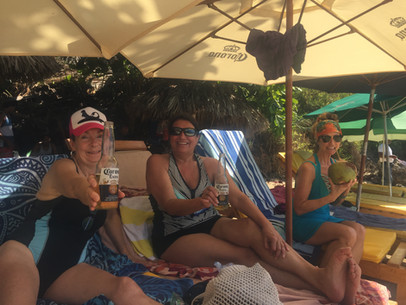 Cerveza's and Cocos at the Playa