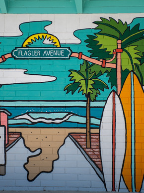 Mural on Julia Street in New Smyrna Beach