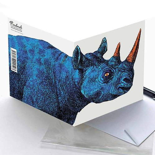 Pinchuck greeting card: Rhino