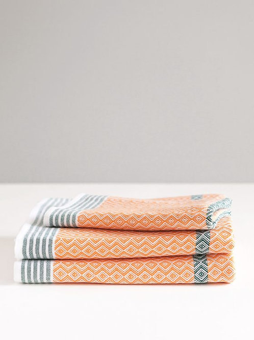 Hand towel in African sunset, by Mungo