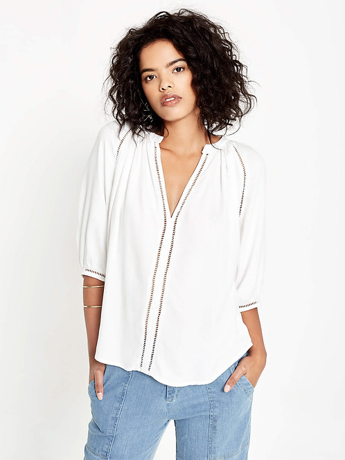 Celia Blouse in Viscose in White