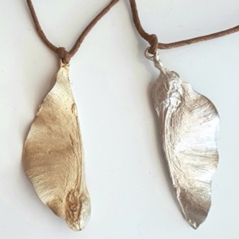 Seed Pod Acacia, Silver Large