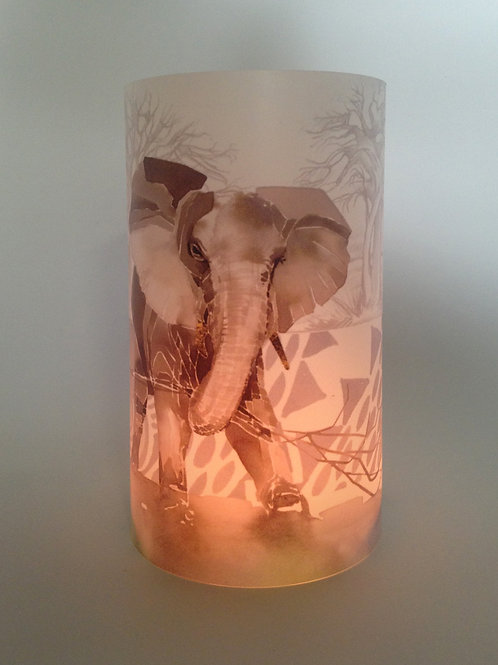 Elephant herd Candle shade