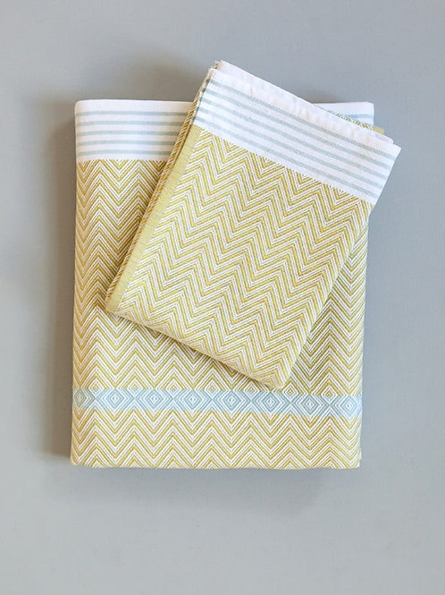 Hand towel in Soleil, by Mungo