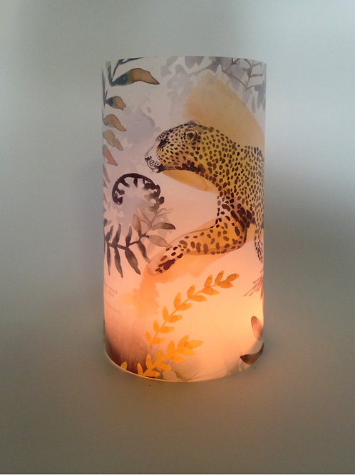 Leopard Candle shade
