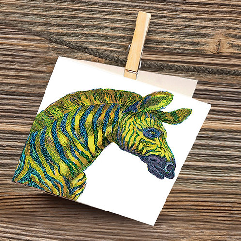 Pinchuck greeting card: Giraffe