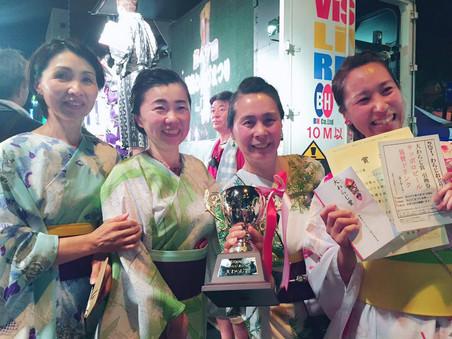 福島県 わらじ祭りで大賞獲りました!