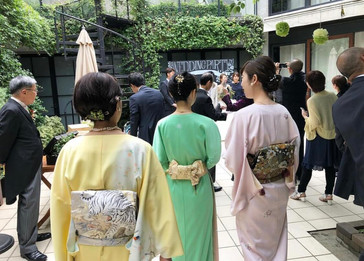 仕立屋甚五郎オリジナル 咲貴子 色留袖 小袖着物 心のままに 心もよう 衿なし着物