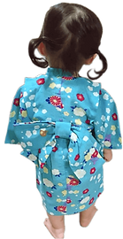 仕立屋甚五郎オリジナル ベビー浴衣 簡単 着崩れない 動きやすい 着用イメージ